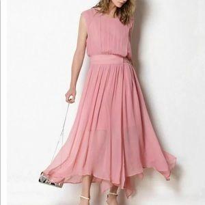 NWT Caara Womens Side Buckle Wrap Maxi Dress